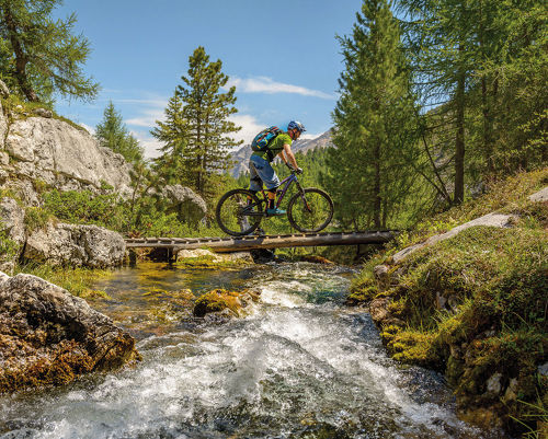 Mountainbiken in den Dolomiten